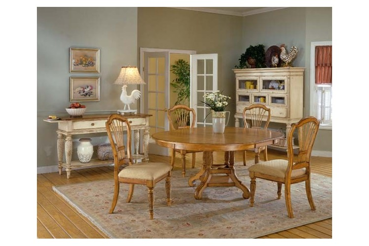 Wilshire 5pc. Antique Oak Dining Set